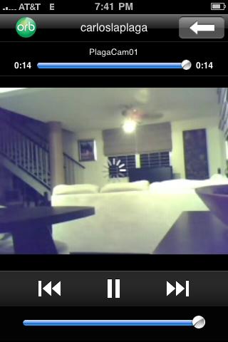 Imagenes en vivo desde el iPhone