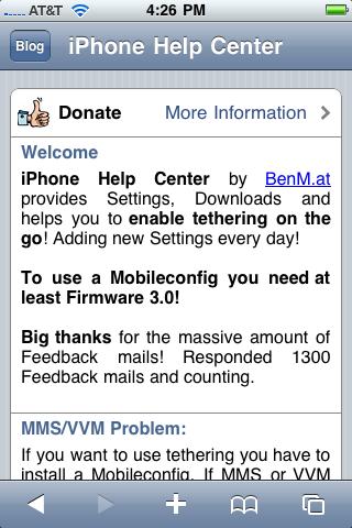 Subir Safari y entrar la siguiente dirección: www.help.benm.at/help.ph