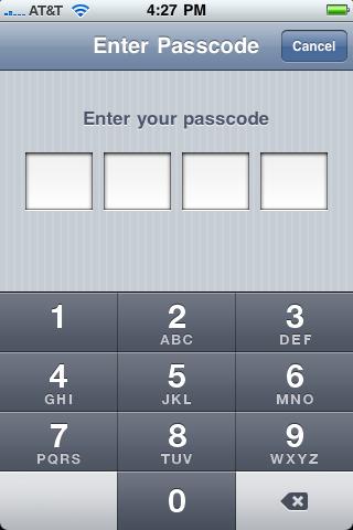 """Si tu iPhone tiene un """"pin"""" de seguridad (recomendado) entrarlo ahora"""