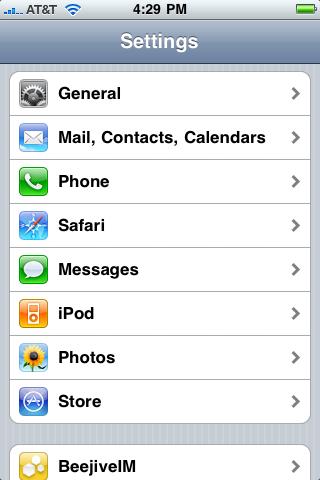 """Oprimir el botón de """"Home"""" del iPhone y entrar a """"Settings"""""""