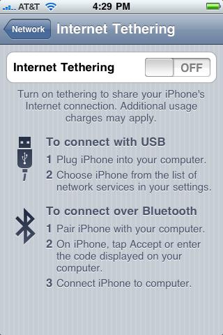 Aquí puedes encender la opción de Tethering, tambien describe cómo sería la conexión por USB o por Bluetooth a tu PC/Mac