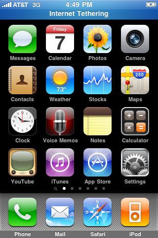 Listo, conecta el iPhone por USB (o Bluetooth) y verás una barra azul en el tope de la pantalla confirmando de que el iPhone esta trabajando cómo modem.