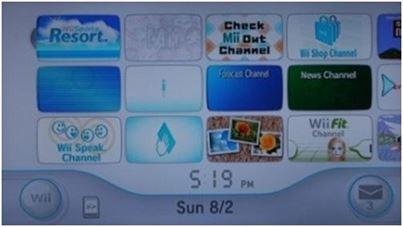 Menu Principal de un Wii virgen....ji,ji,ji