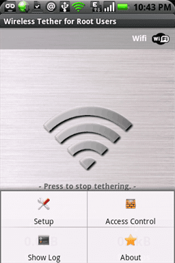 Opciones de Menu Wifi Tether