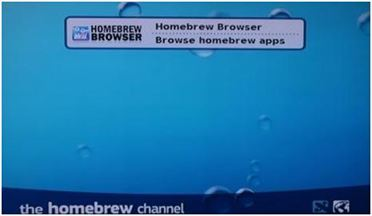"Opción ""Homebrew Browser"""