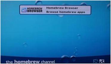 """Opción """"Homebrew Browser"""""""