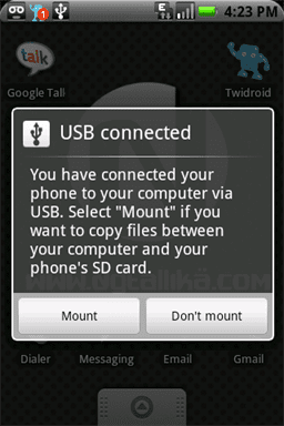 Android usb_mount_unmount_selection