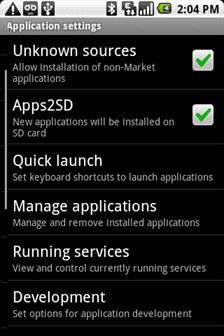 Selecciones Apps2SD