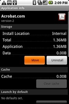 Aprieta move para mover la aplicacion