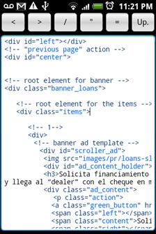 Silver edit HTML