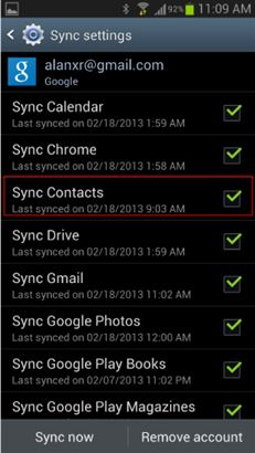 syncContacts